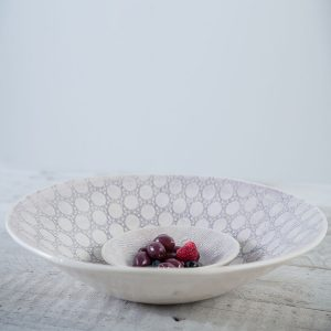Aubergine patterned salad bowl