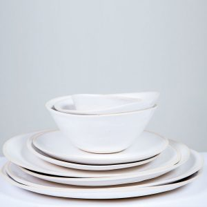 Dinnerware full stack beach sand white