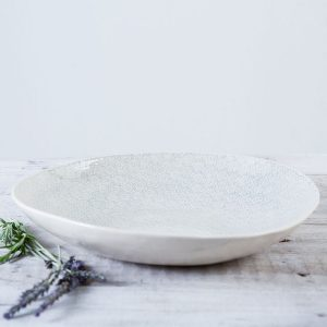 dinnerware Patterned Spaghetti bowl in duck egg