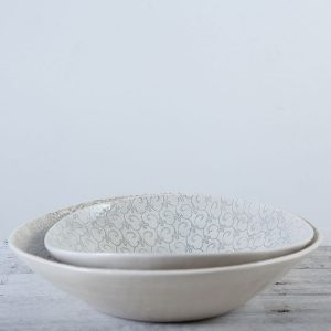duck egg patterned salad bowls